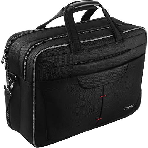 TSA Laptop Bag, 15.6 Inch Briefcase for Men Women, Checkpoint Friendly Shoulder Messenger Bag Smart Organizer Fit 15.6 15 in Laptops Notebook Computers for College School Business Travel, Black