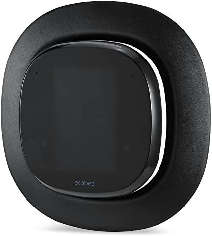 Sophisticated Aluminum-Alloy Metal Wall Plate for ECOBEE 4 Smart Wi-Fi Thermostat by means of Wasserstein (Black)