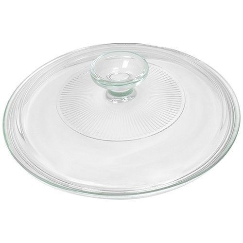 Corningware French White 2.5 Quart Fluted Round Glass Lid