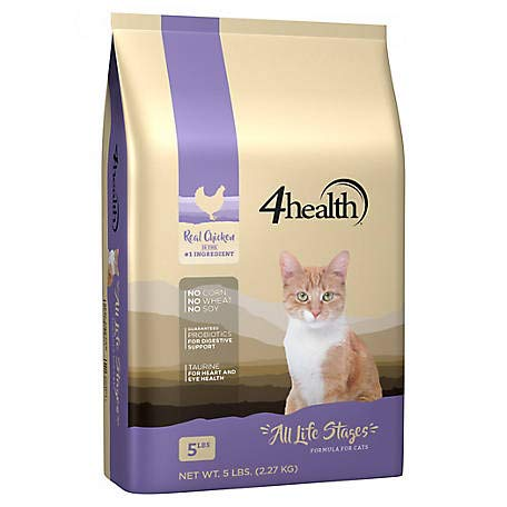4health Tractor Supply Company, All Life Stages Cat Food, Dry, 5 lb. Bag