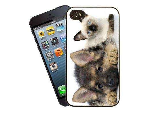 Chat Étui pour téléphone portable, design 9–Siamois chaton et idées cadeau chiot–Housse pour Apple iPhone 4/4S Motif Alsaciens by Eclipse