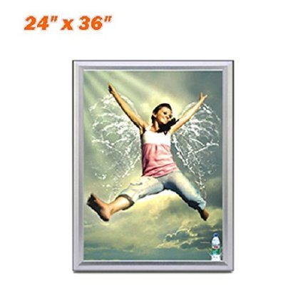 - 24x36'' inch Slim Snap Frame LED Light Box - Movie Poster Frames Advertising Light Box for Poster Advertising