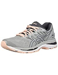 ASICS Women's Gel Nimbus 20 Running Shoes, Black/White/Carbon, 12 Medium US