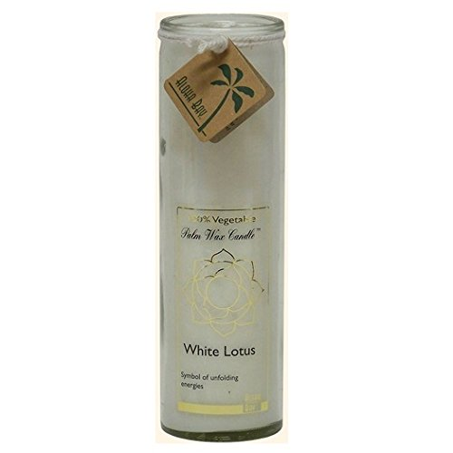 Aloha Bay Chakra Candle Jar, White Lotus, 17 oz,