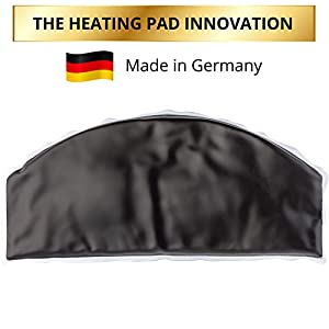 MOQY® Moor Best Heating Pad for Back Pain and Stomach Cramps - MADE IN GERMANY - Cordless Hot Cold Pad - Microwavable & Freezable - Tension & Pain Relief - Moist Heat - Weighted & Portable - Organic