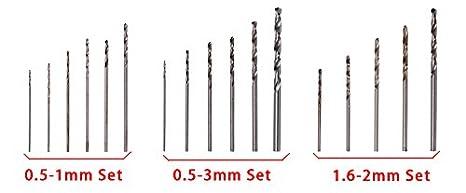50Pcs 1.6-2mm Micro HSS Twist Drill Bits Steel Set Tool Shank Various Sizes