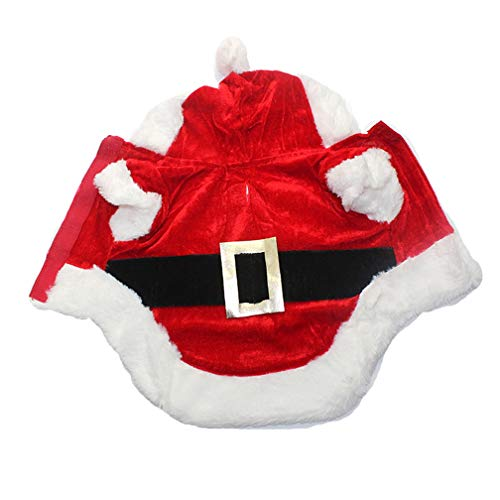 KONANE Christmas Cat Clothes Pet Dog Cat Costume Santa Claus Costume Winter Christmas Pet Coat Apparel Cotton Clothes for Cat Dog 27S2