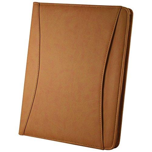 (Preferred Nation Preferred Nation Zip-Around Padfolio Note Pad Holder Tan)
