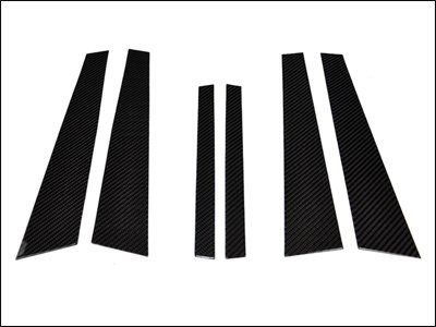 E60 Carbon (AutoTecknic Carbon Fiber B-Pillar Covers - BMW E60 5 Series Sedan & M5)