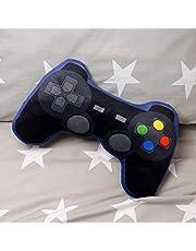 Game Over Gamecontroller kussen zwart/blauw, geborduurd, 100% polyester, in polyester zak.