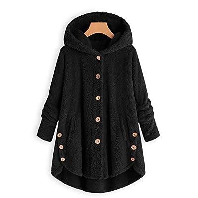 Bloomn Fleece Winter Coat Plus Size,Women Warm Parka Hooded Zipper Jacket: Clothing