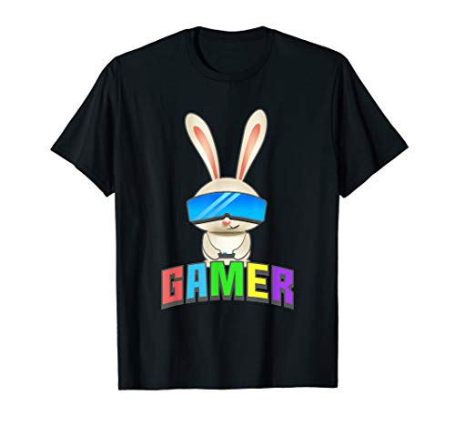 Easter Bunny gamer t shirt for kids,graphic gift gaming boys -