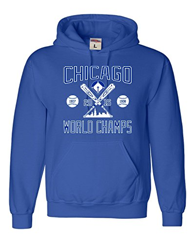 Small Royal Blue Adult Chicago World Champs 2016 Sweatshirt Hoodie