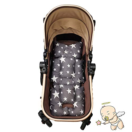 Universal Cover Pushchair Size 32x80 cm Infant Cushion Pad Gray Geometry Soft /& Reversible Baby Pure Cotton Stroller Car Seat Liner Pram Insert Portable Changing Pad