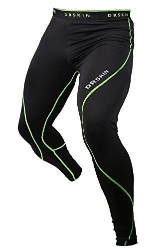 DRSKIN Compression Sports Tights Pants Baselayer Running Leggings Rashguard Men (M, Twin...