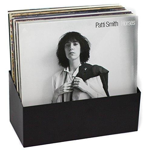 Hudson Hi-Fi Wall Mount Vinyl Record Storage 25-Album Display Holder   Black   Made in USA