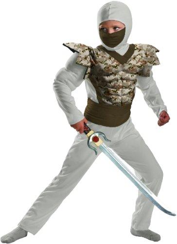 [Desert Camo Ninja Classic Muscle Costume Child 7-8] (Desert Camo Ninja Costumes)