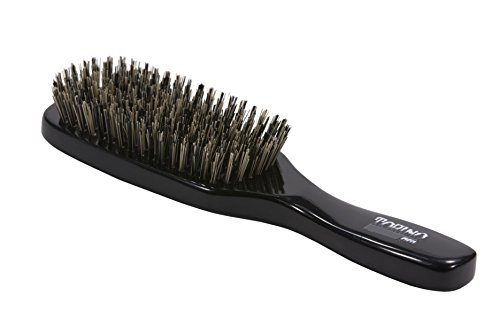 Pro Hair Brush - Torino Pro Wave Brush by Brush King - #180 - 9 Row, Extra Hard Wave Brush with Reinforced Boar & Nylon Bristles - Great 360 Wave Brushes for Wolfing-