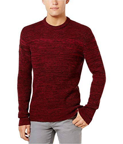 American Rag Mens Knit Marled Crewneck Sweater Red XL