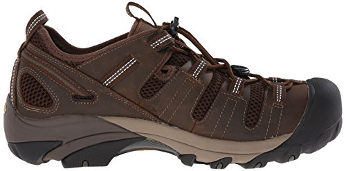 Keen Utility Mens Atlanta Cool Soft Toe ESD Work Boot, Cascade Brown/Forest Night, 7.5 D US