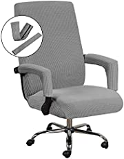 H.VERSAILTEX Home Office Chair Covers Stretchable Computer Desk Chair Covers Mid - High Back Universal Executive Boss Chair Covers Gaming Chair Covers Non Slip Thick Jacquard