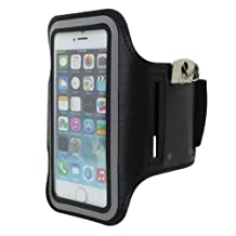 Cbus Wireless Running Jogging Sports GYM Armband Cover Case Holder for Apple iPhone 5S, 5C, 5, iPod Touch 5, 5G - Black