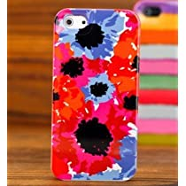 Kate Spade iPhone 5 Resin Hard Case(Red and Blue Flower)