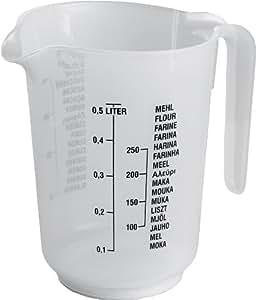 Vaso medidor de plástico 500ml