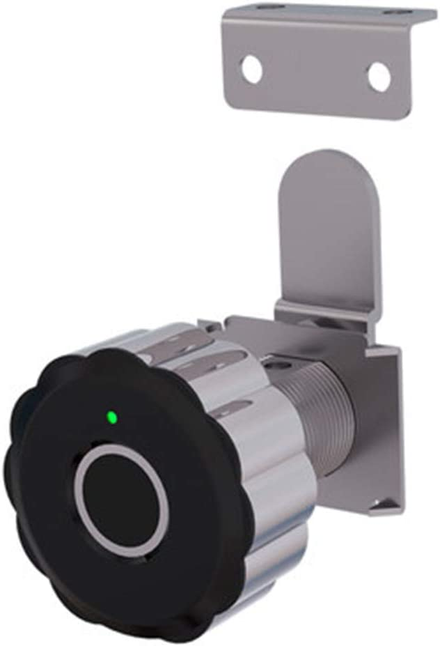 WOOPOWER Cabinet Locks, Fingerprint Lock, Smart Locks, USB Rechargeable Smart Fingerprint Low Battery Alarm File Lock Sensitive Efficient Battery for Home Bedroom Office Cabinet Drawers