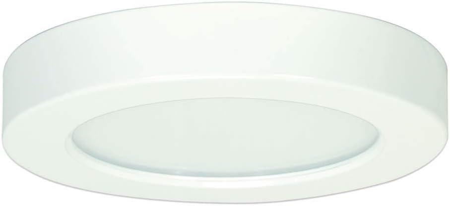Satco S29323 10.5 watt; 5.5 Flush Mount LED Fixture; 3000K; Round Shape; White Finish; 120 Volts
