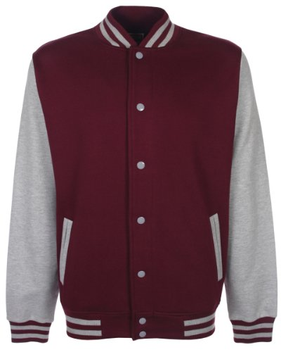 nbsp;Chaqueta Varsity Grey multicolor Hombres nbsp;– FDM Burgundy de Heather Fundamental qH1Xw1p7