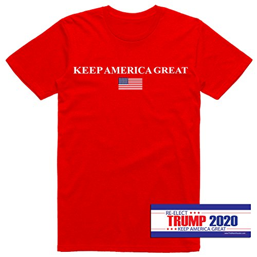 Men's Donald Trump 2020 Keep America Great US Flag MAGA T-
