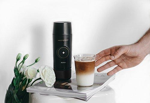 PRESSOPUMP Cordless Espresso Maker (Automatic) | Mini Espresso Coffee Machine | Perfect Gift for Home, Outdoors and Office | Black by Pressopump (Image #6)