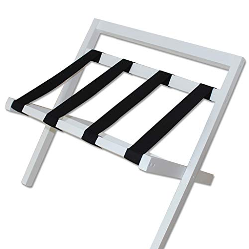Luggage Racks- Folded white solid wood backrest luggage case Luggage suitcase Suitcase bracket Hotel room Living room clothes rack Shelf Size: 406150cm