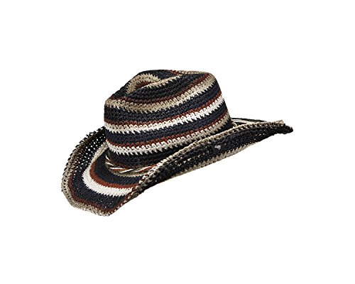 PETER GRIMM ISA THICK BANDED WEAVE SIMPLE TWIST BAND WESTERN DRIFTER HAT (Urban Cowboy Hats)
