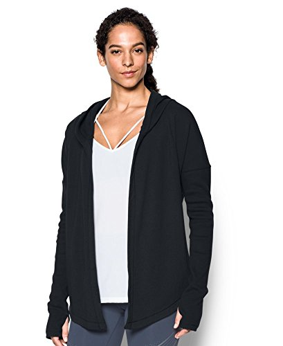 Under Armour Women's Modern Terry Open Front Cardigan, Black (001), XX-Large