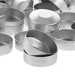 Fityle 200 Pack Round Aluminium Tea Light Cups Emp