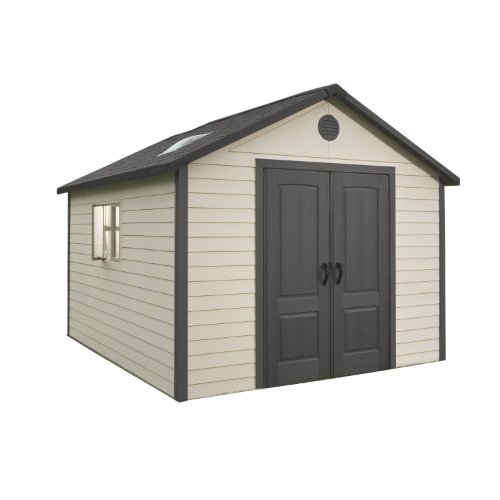 Lifetime 6433 Outdoor Storage Shed with Windows, 11 by 11 Feet
