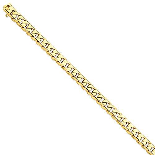 22 mm 14 carats à maillons arrondis Bracelet Chaîne 8 cm-JewelryWeb pince de homard