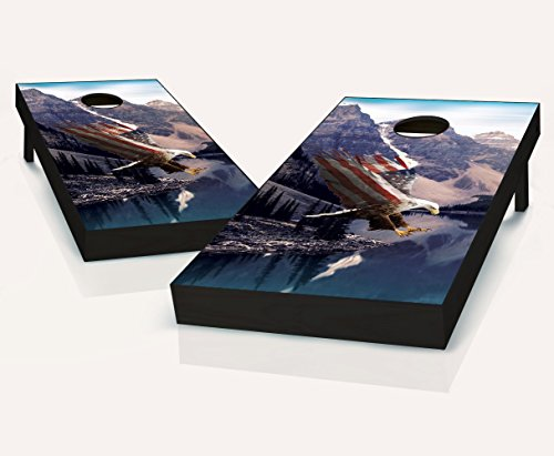 Freedom Flight Cornhole Boards With Set of 8 Cornhole Bags by Tailgating Pros
