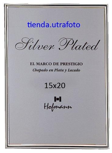 Marco de foto 15x20 plata lacada perfil fino Hofmann