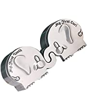 BESPORTBLE 1 Pair Silver My First Curl and Tooth Box Set Elephant Shape Newborn Baby Keepsake Storage Boxes