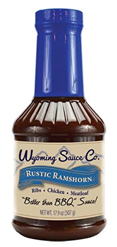 Wyoming Sauce Co Premium Rustic Ramshorn BBQ Sauce 16 Ounce,