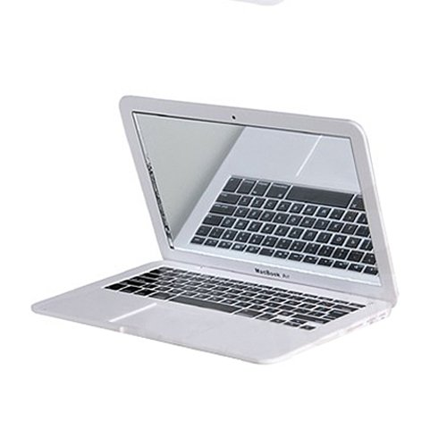 JOINNEW@ Mini Macbook Air Style Portable Mirror Apple Notebook Creative Make up Mirror - coolthings.us