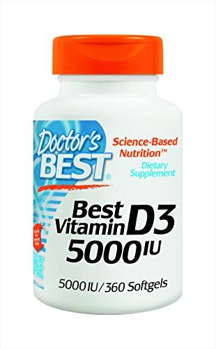 Meilleur vitamine D3 de Docteur 5000iu mous gels, 360-comte