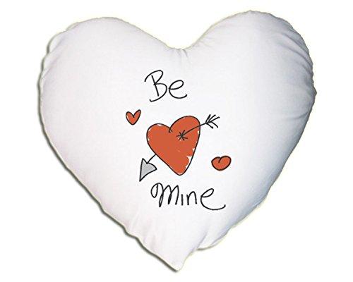 Satén oficial Cojín en forma de corazón - Be Mine ...