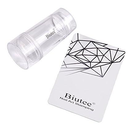 Biutee Sello de Silicona de Arte de Uñas Doble Cara Estampador de uñas