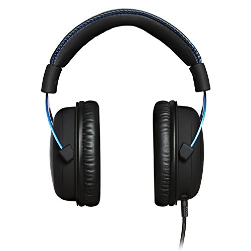 HyperX Cloud Gaming Headset - Playstation 4 - Officially Licensed Sony Interactive Entertainment LLC PS4 Systems - Black/Blue (HX-HSCLS-BL/AM) by HyperX (Image #3)