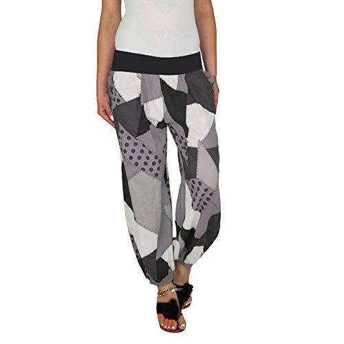 ANJUNIE Women Long Pants Casual Style High Waist Casual Style Sports Yoga Trouser Pants(3-Black,XXXXXL)