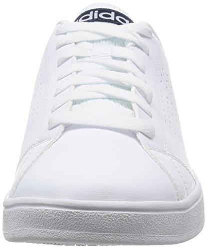 Hombre de Blanco Ftwbla Exterior Zapatillas Cl Maruni Ftwbla Advantage Deporte para Vs Adidas Oq81f